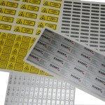 Nálepky štítky a značenia