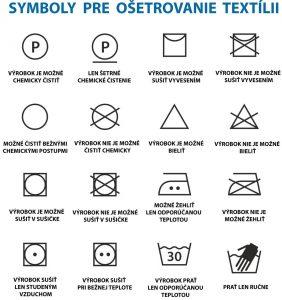 Základné symboly na oblečení